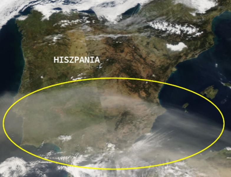 Zdjęcie satelitarne EUMETSAT