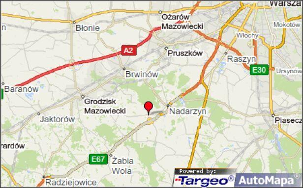 Do zderzenia doszło w miejscowości Stara Wieś (pow. pruszkowski) Mapy Targeo