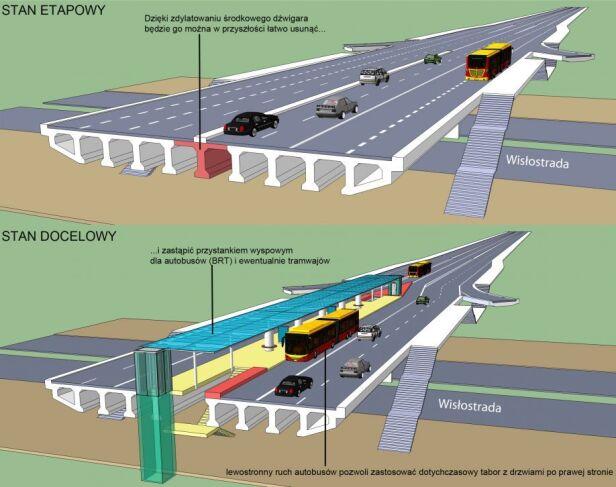 Propozycja przebudowy Trasy Łazienkowskiej CZT