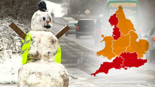 Wielka Brytania zaśnieżona, ale musi szykować się na powodzie. Mapy jarzą się od alertów