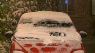 Nocne opady śniegu w Zakopanem