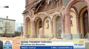 Kościoł w Lutowie zniszczony rzez wiatr/TVN24